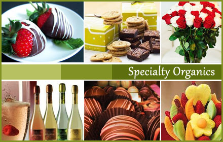 $25 for $75 worth of organic sparkling wine, fruit, chocolates, coffee, bath products, and more from Specialty Organics