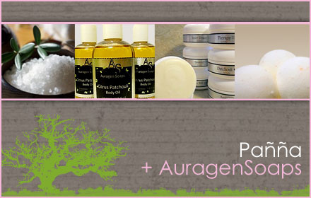 $20 for $40 worth of natural Body Butters, Fizzies, Scrubs, Oils, and Milk Baths from Pañña + AuragenSoaps
