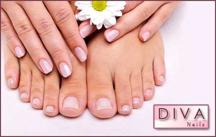 $18.50 for a luxurious classic mani-pedi at Diva Nails 1 ($37 value)