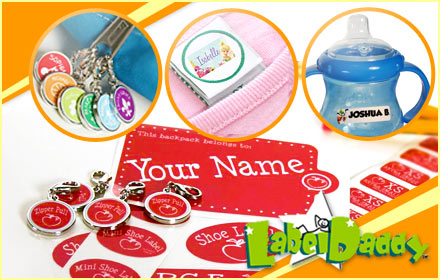 Get organized in the New Year for only $25 with Customized Peel and Stick Labels from Label Daddy ($50 value)