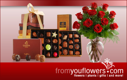 $15 for a $30 gift certificate for holiday flowers, gifts, and plants at FromYouFlowers.com
